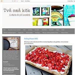Två små kök: Maräng- och sockerkakstårta med jordgubbar och grädde - även kallad pinocchiotårta