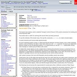 flash.net.Socket - ActionScript® 3.0 Reference for the Adobe® Flash® Platform