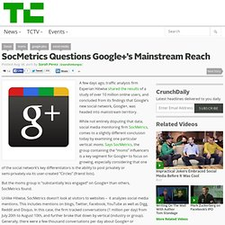 SocMetrics Questions Google+'s Mainstream Reach