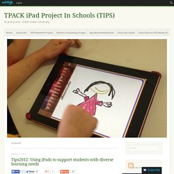 TPACK iPad Project In Schools (TIPS)