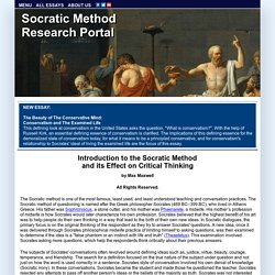 Socratic Method Research Portal