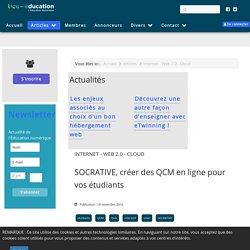 SOCRATIVE, créer des QCM en ligne pour vos étudiants