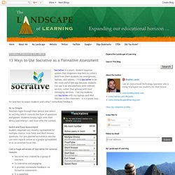 13 Ways to Use Socrative as a Formative Assessment