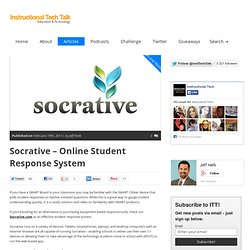Socrative - Online Student Response System