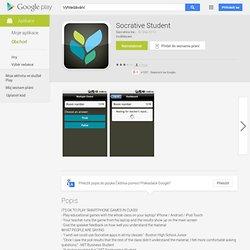 Socrative Student - Aplikace pro Android ve službě Google Play