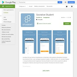 Socrative Student – Applications Android sur GooglePlay