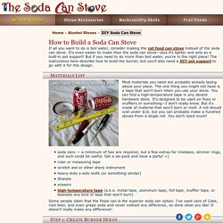 Soda Can Stove: How to Build