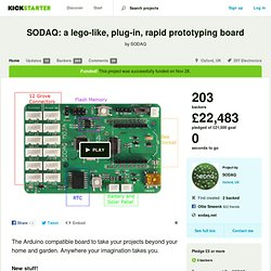 SODAQ: a lego-like, plug-in, rapid prototyping board by SODAQ