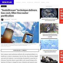 """SodaStream"" technique delivers low-cost, filter-free water purification"