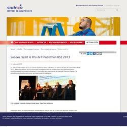 Sodexo reçoit le Prix de l'Innovation RSE 2013