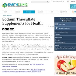Sodium Thiosulfate Supplements for Health