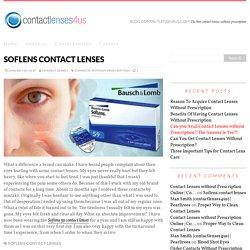 Soflens contact lenses