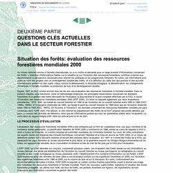 SOFO - Situation des forêts du monde - 2001