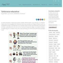 Sofocracia educativa