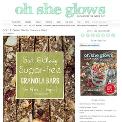 Soft & Chewy Sugar-Free Baked Granola Bars