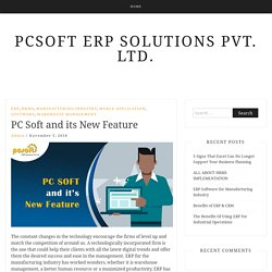 PCSOFT ERP SOLUTIONS PVT. LTD.