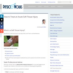 Soft Tissue Injury Treatment