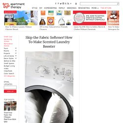 How To Make Scented Laundry Booster Home Hacks