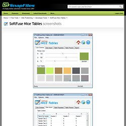 SoftFuse Nice Tables screenshot and download at SnapFiles.com