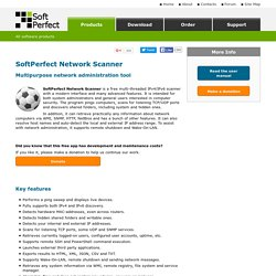 SoftPerfect Network Scanner : fast and free network scanner