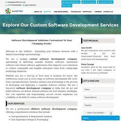 AJA SoftTech: Custom Software Development Company