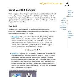 Algorithm.com.au - Software