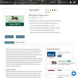 Buy Online Tally ERP 9 Software At Cheapest price – Techjockey
