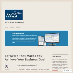 Software That Makes You Achieve Your Business Goal – MCS Hire Software