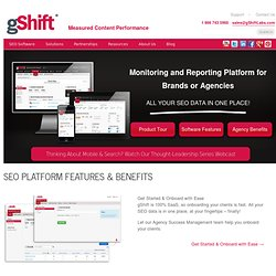 SEO Software System | Web Presence Optimization | gShift Labs