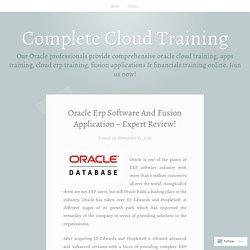 Oracle Erp Software And Fusion Application - Expert Review!