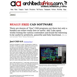 Free CAD Software Programs for Architects - Download Links :: Architect Africa Practice Online