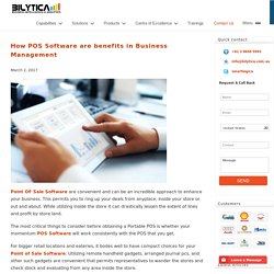 How POS Software are benefits in Business Management