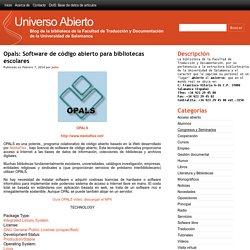 Opals: Software de código abierto para bibliotecas escolares