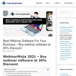 Best Webinar Software For Your Business – Buy webinar software at 20% Discount - Tool For Business
