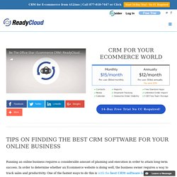 Best CRM Software For Your Online Business