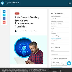 6 Software Testing Trends for Businesses to Consider - Cygnet
