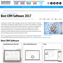 Best CRM Software for Small Businesses - 2016 Edition