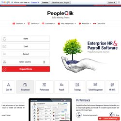 HR and Payroll Software offered By PeopleQlik