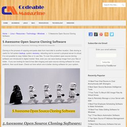 5 Awesome Open Source Cloning Software - Codeable Magazine