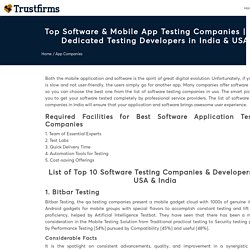 Top Software & Mobile App Testing Companies & Developers