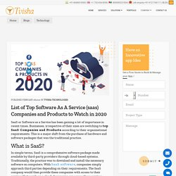 What is Software as a Service (Saas)? & List of Top Saas Companies & Products to watch in 2020