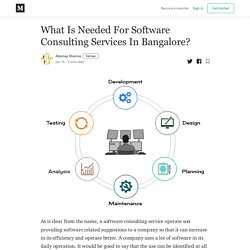 What Is Needed For Software Consulting Services In Bangalore?