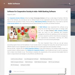 Software For Cooperative Society In India- Nidhi Banking Software