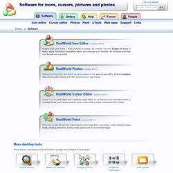 Software for icons, cursors, pictures and photos