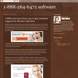 1-888-264-6472 Easy way to get customer support for McAfee Antivirus