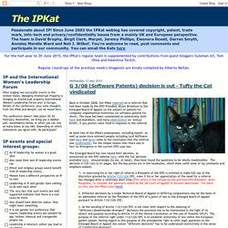 The IPKat: G 3/08 (Software Patents) decision is out - Tufty the Cat vindicated