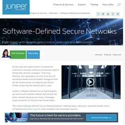 Software-Defined Secure Networks