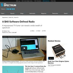 A $40 Software-Defined Radio