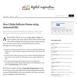 How to Make Software Demos using Animated GIFs