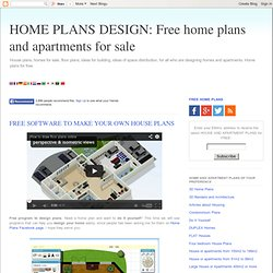 FREE HOME PLANS AND APARTMENTS FOR SALE